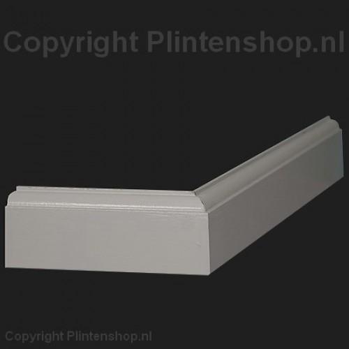 Eigentijdse kraalmodel mdf plint 70 x 15 mm x 2 4 meter ral9010 - Eigentijdse muur ...