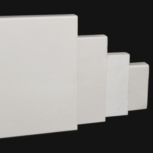 Bekend Rechte moderne MDF plint 150 x 18 mm x 2,4 meter RAL9010 PC37