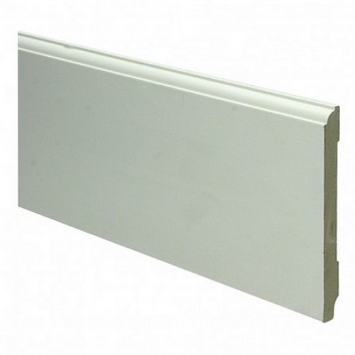 Eigentijdse kraalmodel mdf plint 120 x 12 mm x 2 4 meter ral9010 - Eigentijdse muur ...